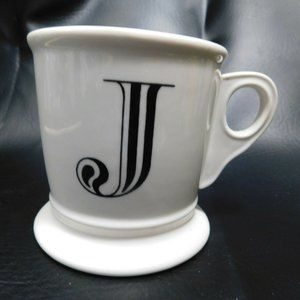 Anthropologie Initial Monogram J Coffee Mug Cup